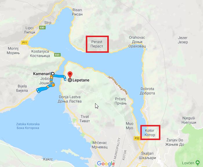2018-07-13 13_21_53-Kamenari, Czarnogóra do Lepetane, Czarnogóra – Mapy Google.png